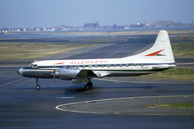 Allegheny Airlines, N5841, Convair CV580, msn 68, Photo by Wayne Brown, BOS, Image CV006LGWB