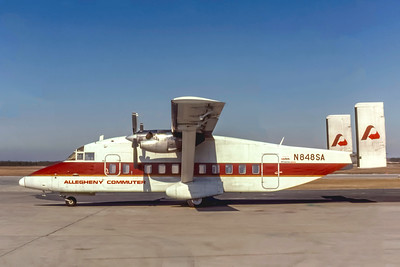Allegheny Commuter, N848SA, Shorts 330-200, msn SH3058, Photo by Stephen Tornblom Collection,  Image KK008LGSO