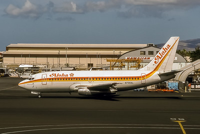 Aloha Airlines, N730AL, Boeing 737-297(ADV), msn 22631, Photo by Brian Peters, HNL, Image J105LGBP