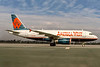 America West Airlines, N808AW, Airbus A319-132, msn 1088, Photo by Joe Fernandez Collection, LAX, Image AB078RGJF