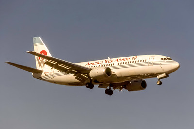 America West Airlines, N165AW, Boeing 737-33A, msn 23626, Photo by J. Fernandez Collection, Image K155RAJF