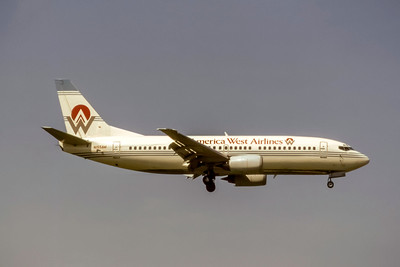 America West Airlines, N155AW, Boeing 737-3G7, msn 23777, Photo by Joe Fernandez Collection, Image K151RAJF
