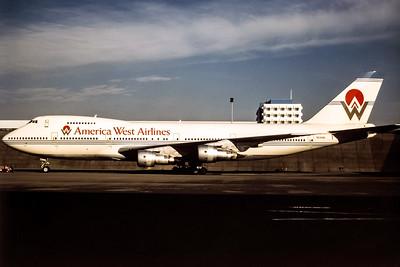 America West, N531AW, Boeing 747-206B, msn 19922, Photo by Adrian Smith, Image M016LGAS