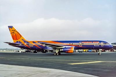 America West, N907AW, Boeing 757-225, msn 22691, Photo by Adrian J Smith, Image N020RGAS