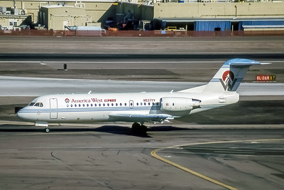 America West Express, N537YV, Fokker F-28-0070, msn 11537, Photo by  Brian Peters, Image F016LGBP