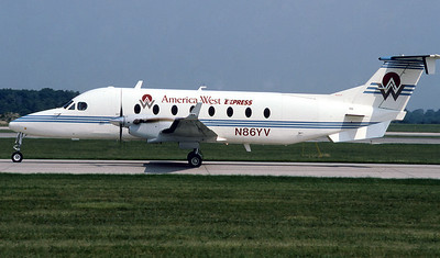 America West Express, N86YV, Beech 1900D, msn UE-86, Photo by Photo Enrichments Collection, Image LL006LGJC