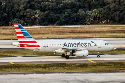 American Airlines, N814AW, Airbus A319-132, msn 1281, Photo by John A Miller, TPA, Image AB058RGJM