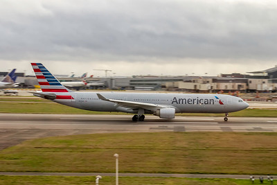 American Airlines, N273AY, Airbus A330-323, msn 337, Photo by John A Miller, LHR, Image WW012RGJM