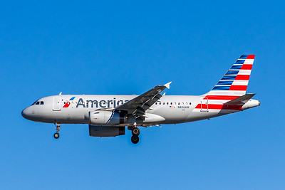 American Airlines, N806AW, Airbus A319-132, msn 1056, Photo by John A Miller, LAX, Image AB067LAJM