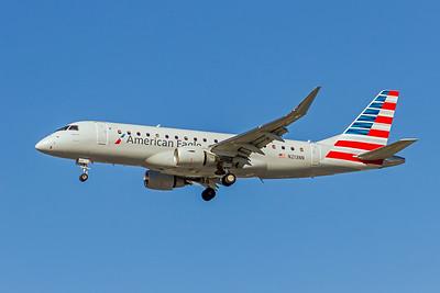 American Eagle (Compass Airlines), N213NN, ERJ-175LR, msn 17000505, Photo by John A Miller, LAX, Image YA014LAJM