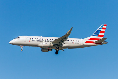 American Eagle (Compass Airlines), N210NN, ERJ-175LR, msn 17000500, Photo by John A Miller, LAX, Image YA006LAJM