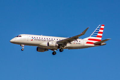 American Eagle (Compass Airlines), N215NN, ERJ-175LR, msn 17000511, Photo by John A Miller, LAX, Image YA027LAJM