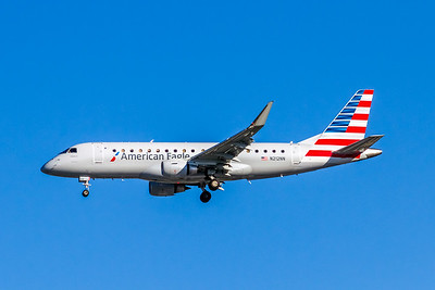 American Eagle, N212NN, ERJ-175LR (ERJ-170-200LR), msn 17000504, Photo by John A Miller, LAX, Image YA020LAJM, Operated by Compass Airlines