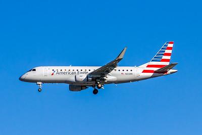 American Eagle, N212NN, ERJ-175LR (ERJ-170-200LR), msn 17000504, Photo by John A Miller, LAX, Image YA020LAJM, Operated by Compass Airlines