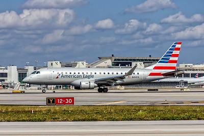 American Eagle, (Republic Airlines), N414YX, Embraer ERJ-175LR(ERJ-170-200LR), msn 17000377, Photo by John A Miller, MIA, Image YA032LGJM