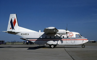 American Eagle, N348CA, CASA 212 aviocar 200 C-212-CC, msn 175, Photo by Steve Tobey, Image AF003RGST