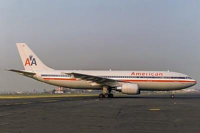 American Airlines, N7055A, Airbus A300B4-605R, msn 462, Photo by Adrian J Smith, EWR, Image R004RGAS
