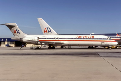 American Airlines, N754RA, McDonnell Douglas MD-87, msn 49461, Photo by Stephen Tornblom Collection, Image D083LGSO