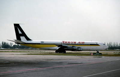 Arrow Air, N4225J, Boeing 707-338C, msn 18809, Photo by Roger Bentley, MIA, Image H011RGRB