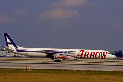 Arrow Air, N345JW, Douglas DC-8-63, msn 46042, Photo by Bjoern Kannengiesser, Image B013RGBK