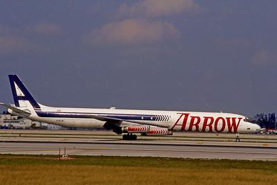 Arrow Air, N345JW, Douglas DC-8-63, msn 46042, Photo by Bjoern Kannengiesser, Image B013RGBK
