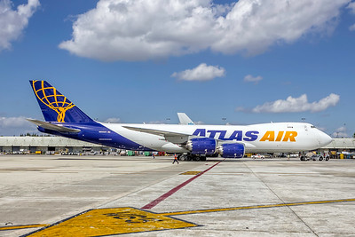 Atlas Air, N855GT, Boeing 747-87UF, msn 53027, Photo by John A Miller, MIA, Image D082RGJM