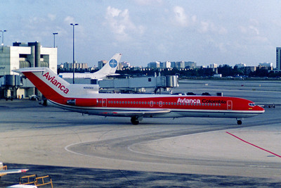 Avianca Airlines, N202AV, Boeing 727-2G9Adv, msn 21931, Photo by John A. Miller, MIA, Image I034RGJM