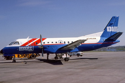 Braniff Express, N346AM, Saab-Fairchild SF-340A, msn 340A-032, Photo by Photo Enrichments Collection, Image GG002LGJC