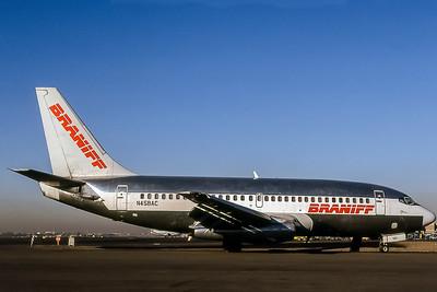 Braniff, N458AC, Boeing 737-2Q9(ADV), msn 21790, Photo by Bob Shane, Image J008RGBS