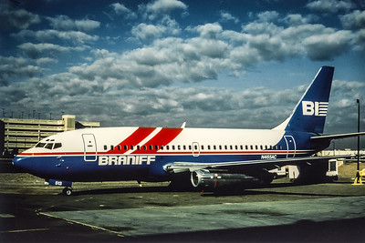 Braniff International II, N465AC, Boeing 737-293, msn 19713, Photo by Photo Enrichments Collection, Image J026LGJC