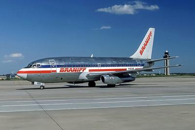 Braniff, N463GB, Boeing 737-293, msn 19308, Photo by Frank Hines, ATL, Image J155LGFH