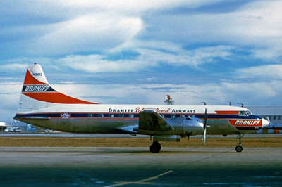 Braniff International, N3432, Convair CV-440-32 Metropolitan, msn 375, Photo by Photo Enrichments Collection, Image CV007RGJC