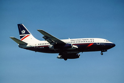 British Airways, G-BGJE, Boeing 737-236Adv, msn 22026, Photo by EA Noel, LGW, Image J017RAEN