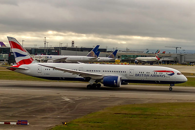 British Airways, G-ZBKC, Boeing 787-9 Dreamliner, msn 38621, Photo by John A Miller, LHR, Image PA007RGJM