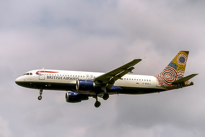 British Airways, G-BUSJ, Airbus A320-211, msn 109, Photo by David Birtwell, Image T145LADB