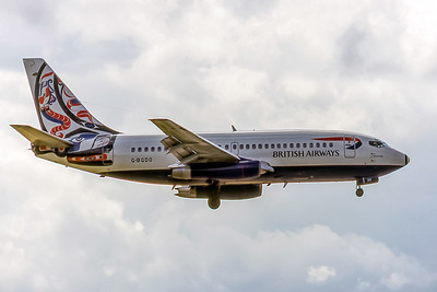 British Airways, G-BGDO, Boeing 737-236(A), msn 21803, Photo by David Birtwell, Image J168RADB