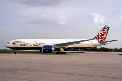 British Airways, G-VIIS, Boeing 777-236(ER), msn 29323, Photo by John A Miller, TPA, Image PP006LGJM