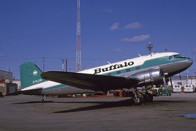 Buffalo Airways, C-FLFR, Dougals C-47A, msn 13155, Photo by Bob Shane, Image A022RGBS