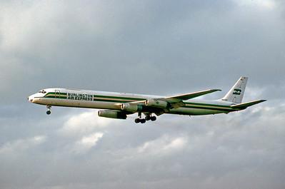 Burlington Air Express, N868BX, Douglas DC-8-63(F), msn 46034, Photo by Adrian J. Smith, Image B010LAAS