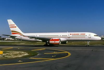 Canada 3000, C-FOOA, Boeing 757-28A, msn 23767, Photo by Nigel Chalcraft, Image N014RGNC
