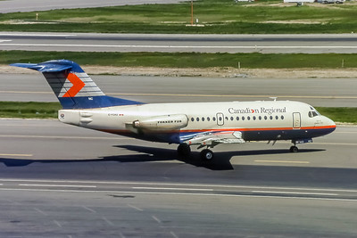 Canadian Regional, C-FCRZ, Fokker F28-1000, msn 11061, Photo by Doug Corrigan, Image F023RGDC