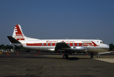 Capital Airlines, N7471, Vickers 798D Viscount, msn 233, Photo by Bob Shane, Image AE001RGBS