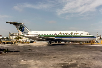 Cascade Airways, N102EX, Bac 1-11-201AC, msn 009, Photo by Michael Jones, MIA, Image V020RGMJ