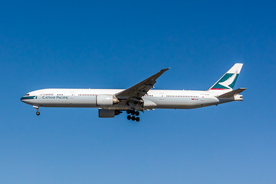 Cathay Pacific, B-KPF, Boeing 777-367(ER), msn 36832, Photo by John A Miller, LAX, Image PP035LAJM