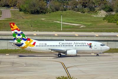 Cayman Airways, VP-CKY, Boeing 737-3Q8, msn 26282, Photo by John A Miller, TPA, Image K123RGJM