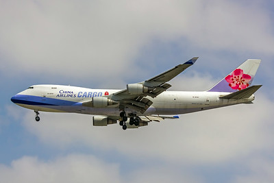 China Airlines Cargo, B-18707, Boeing 747-409F, msn 30764, Photo by John A Miller, LAX, Image M083LAJM