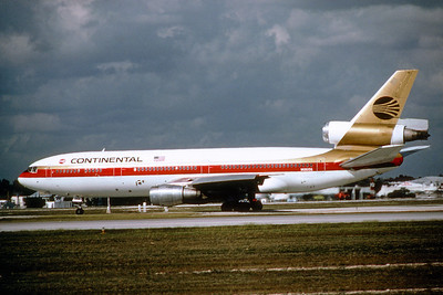Continental AIrlines, N68056, Douglas DC-10-10, msn 47810, Photo by Photo Enrichments Collection, Image U002LGJC