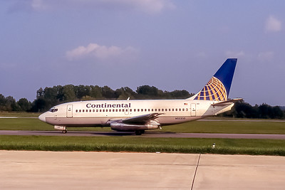 Continental Airlines, N15255, Boeing 737-291(ADV), msn 21069, Photo by John A Miller, GSO, Image J064LGJM