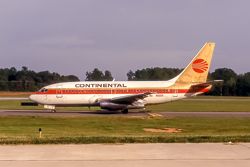 Continental Airlines, N10251, Boeing 737-291, msn 20361, Photo by John A Miller, GSO, Image J063LGJM