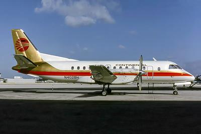 Continental Express, N402BH, Saab 340A, msn 058, Photo by Keith Armes, Image GG022RGKA